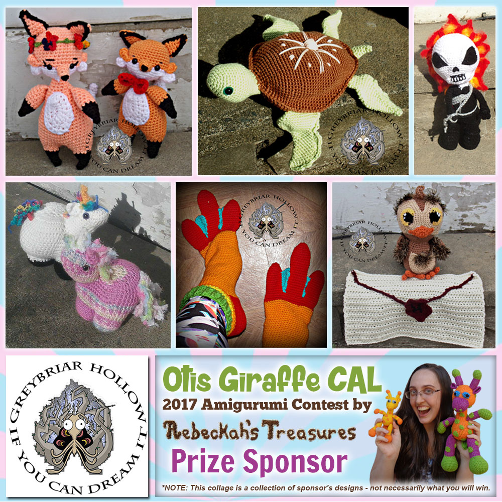 Greybriar Hollow | Prize Sponsor in the #OtisGiraffeCAL #Contest by @beckastreasures with @GreybriarHollow | #CAL in #English #Dansk #Nederlands #Deutsche #עִברִית #Español & #Svenska | Crochet your giraffe today and enter the contest for a chance to win prizes from 13 businesses! | Submissions through to the end of the day EST on May 31st, 2017 | #otis #giraffe #amigurumi #crochet #pattern #contest #April #May #June #YouTube