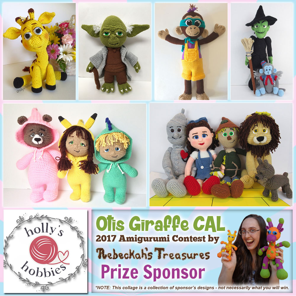 Holly's Hobbies | Prize Sponsor in the #OtisGiraffeCAL #Contest by @beckastreasures with @Hollys_Hobbies | #CAL in #English #Dansk #Nederlands #Deutsche #עִברִית #Español & #Svenska | Crochet your giraffe today and enter the contest for a chance to win prizes from 13 businesses! | Submissions through to the end of the day EST on May 31st, 2017 | #otis #giraffe #amigurumi #crochet #pattern #contest #April #May #June #YouTube