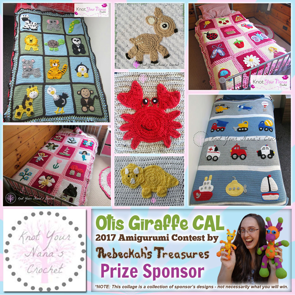 Knot Your Nana's Crochet | Prize Sponsor in the #OtisGiraffeCAL #Contest by @beckastreasures with @KYNC2010 | #CAL in #English #Dansk #Nederlands #Deutsche #עִברִית #Español & #Svenska | Crochet your giraffe today and enter the contest for a chance to win prizes from 13 businesses! | Submissions through to the end of the day EST on May 31st, 2017 | #otis #giraffe #amigurumi #crochet #pattern #contest #April #May #June #YouTube