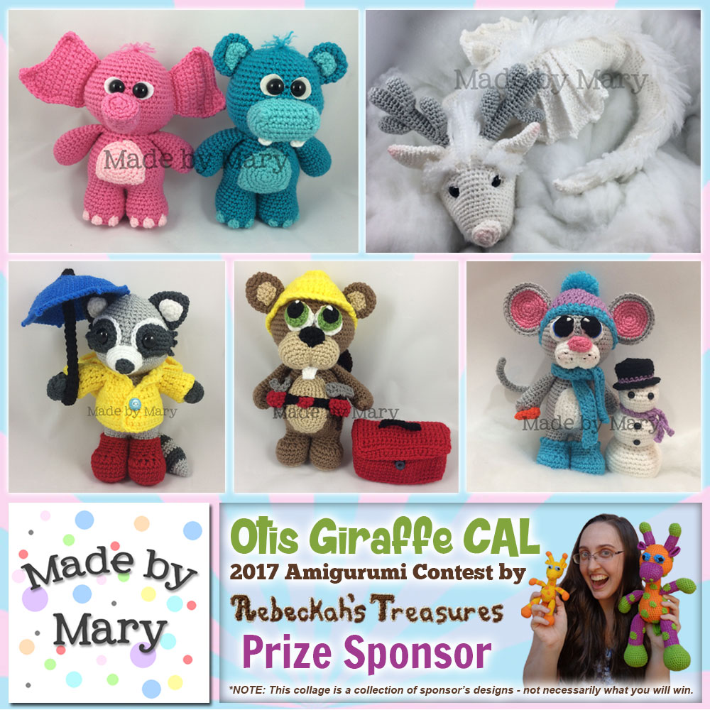 Made by Mary | Prize Sponsor in the #OtisGiraffeCAL #Contest by @beckastreasures with #MadeByMary | #CAL in #English #Dansk #Nederlands #Deutsche #עִברִית #Español & #Svenska | Crochet your giraffe today and enter the contest for a chance to win prizes from 13 businesses! | Submissions through to the end of the day EST on May 31st, 2017 | #otis #giraffe #amigurumi #crochet #pattern #contest #April #May #June #YouTube