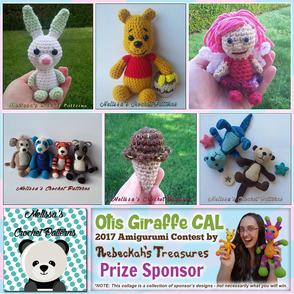 Melissa's Crochet Patterns | Prize Sponsor in the #OtisGiraffeCAL #Contest by @beckastreasures with @melissaspattrns | #CAL in #English #Dansk #Nederlands #Deutsche #עִברִית #Español & #Svenska | Crochet your giraffe today and enter the contest for a chance to win prizes from 13 businesses! | Submissions through to the end of the day EST on May 31st, 2017 | #otis #giraffe #amigurumi #crochet #pattern #contest #April #May #June #YouTube