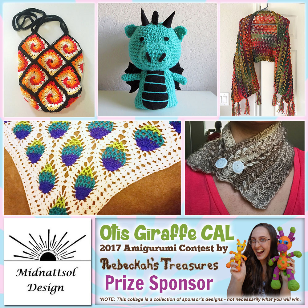 Midnattsol Design | Prize Sponsor in the #OtisGiraffeCAL #Contest by @beckastreasures with #MidnattsolDesign | #CAL in #English #Dansk #Nederlands #Deutsche #עִברִית #Español & #Svenska | Crochet your giraffe today and enter the contest for a chance to win prizes from 13 businesses! | Submissions through to the end of the day EST on May 31st, 2017 | #otis #giraffe #amigurumi #crochet #pattern #contest #April #May #June #YouTube