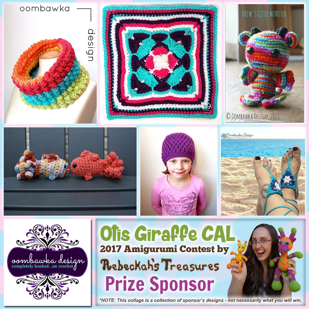 Oombawka Designs Crochet | Prize Sponsor in the #OtisGiraffeCAL #Contest by @beckastreasures with @OombawkaDesign | #CAL in #English #Dansk #Nederlands #Deutsche #עִברִית #Español & #Svenska | Crochet your giraffe today and enter the contest for a chance to win prizes from 13 businesses! | Submissions through to the end of the day EST on May 31st, 2017 | #otis #giraffe #amigurumi #crochet #pattern #contest #April #May #June #YouTube