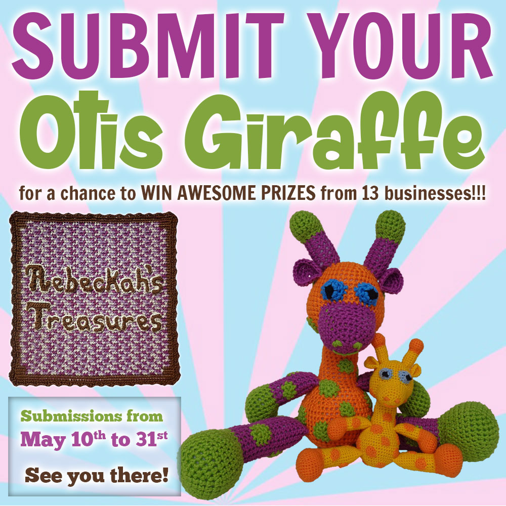 SUBMIT your #Otis #Giraffe to the #OtisGiraffeCAL #Contest by @beckastreasures | #CAL in #English #Dansk #Nederlands #Deutsche #עִברִית #Español & #Svenska | Crochet your giraffe today and enter the contest for a chance to win prizes from 13 businesses! | Submissions through to the end of the day EST on May 31st, 2017 | #amigurumi #crochet #pattern #contest #April #May #June #YouTube