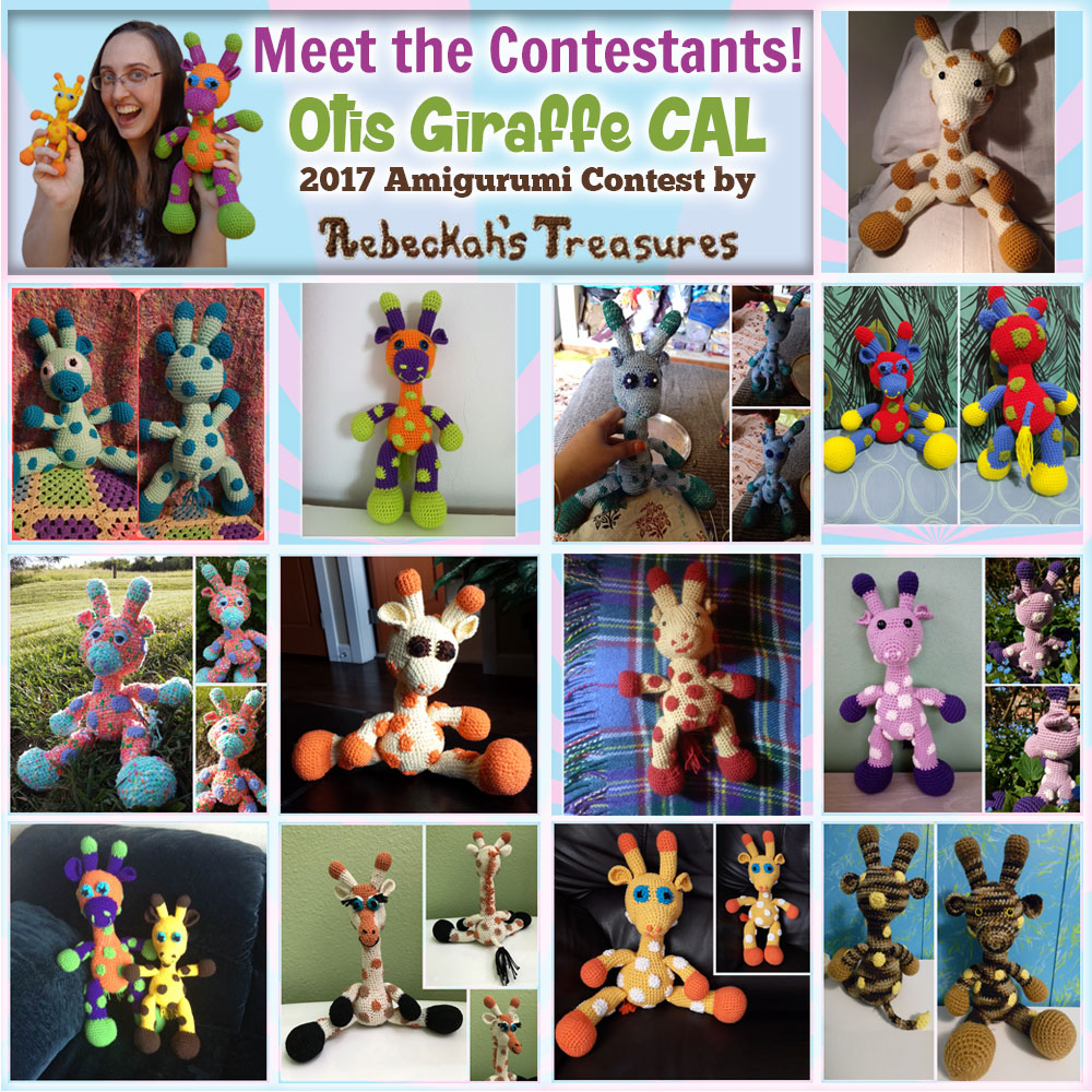 Meet the 2017 #OtisGiraffeCAL #Contestants via @beckastreasures here: https://goo.gl/bY53CX | Public voting from June 12-26, 2017 here: https://goo.gl/bgz6wH | #FREE #CAL available in #English #Dansk #Nederlands #Deutsche #עִברִית #Español & #Svenska - See it here: https://goo.gl/9Fvu2Z | #otis #giraffe #amigurumi #crochet #pattern #contest #April #May #June #YouTube