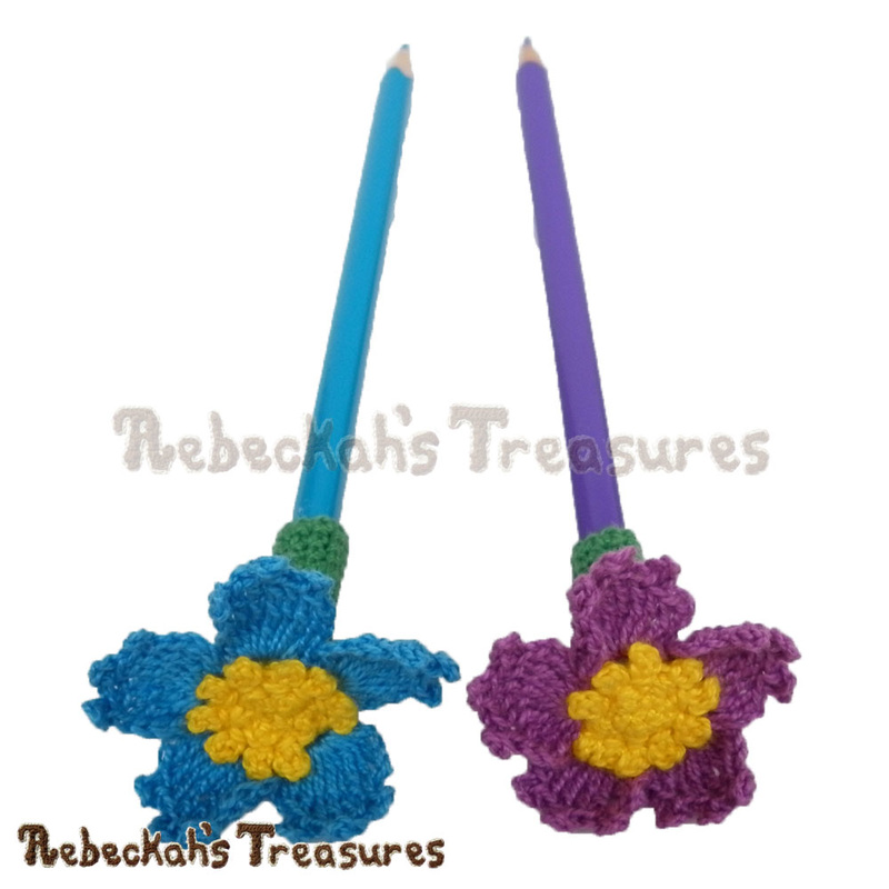 Forget Me Knot Pencil Topper Finger Puppet Crochet Pattern