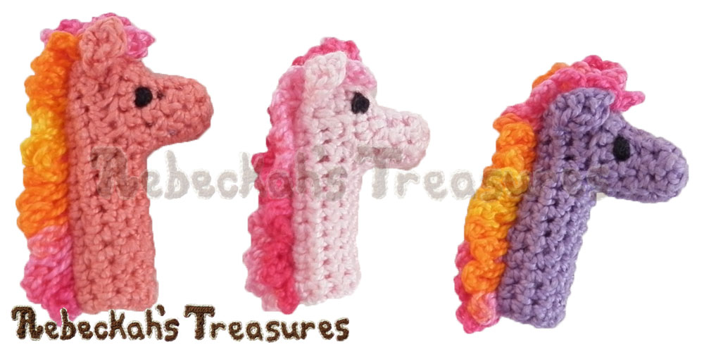Pony Pencil Topper / Finger Puppet | FREE crochet pattern via @beckastreasures | Looking for quick and easy last minute gifts to crochet? Try this pretty Pony Pencil Topper pattern. It's fun for all ages and perfect for last-minute gifts or bulk gifting events! #pony #crochet #penciltopper #fingerpuppet