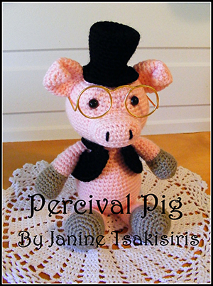 Percival Pig - Crochet Pattern by #NeensCrochetCorner | Featured at Neen's Crochet Corner - Sponsor Spotlight Round Up via @beckastreasures | #fallintochristmas2016 #crochetcontest #spotlight #crochet #roundup