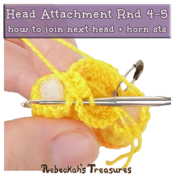 Rnd4-5 - #JoinAsYouGo Tutorial Photos | #Otis #Giraffe - #Amigurumi Crochet-A-Long by @beckastreasures | #OtisGiraffeCAL Part 6: HEAD & FINISHING TOUCHES - Watch the #Video #Tutorial AND #Download the crochet pattern for this part of the #CAL in #English #Dansk #Nederlands #Deutsche #עִברִית #Español & #Svenska! | #crochet #pattern #April #YouTube