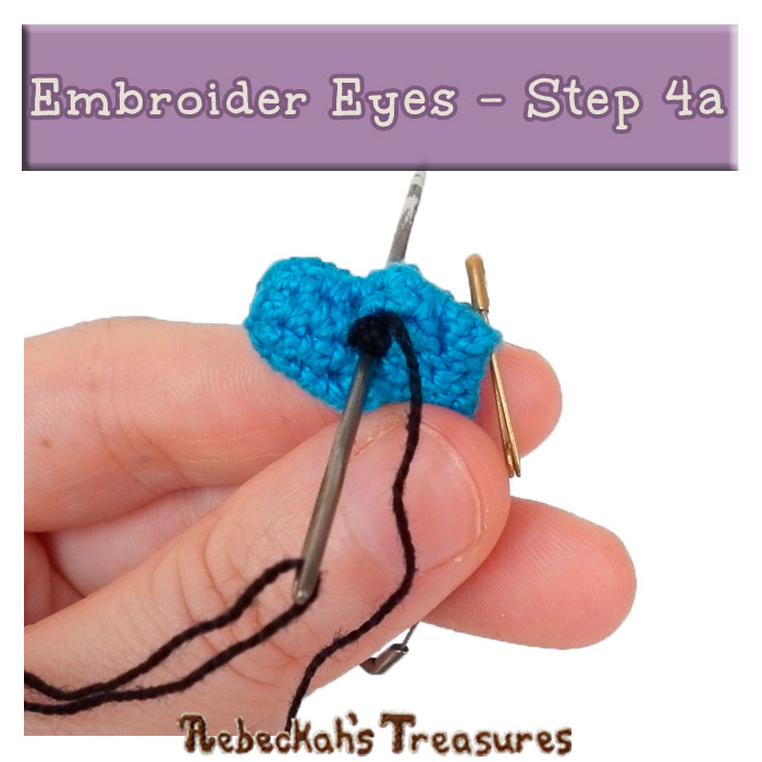 WIP Picture 15 | Embroider Pony Eyes via @beckastreasures | FREE Pencil Topper / Finger Puppet Crochet Pattern!