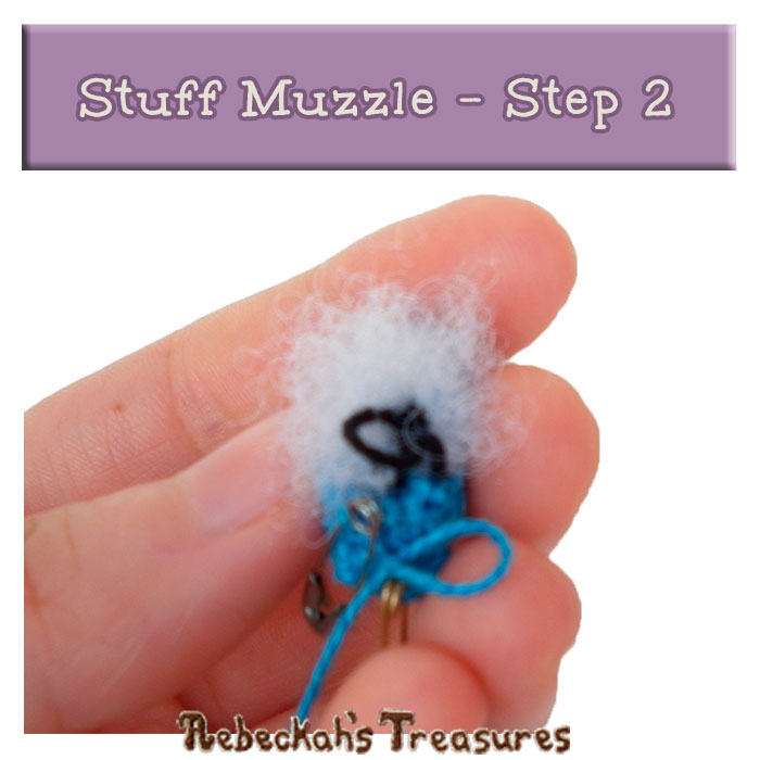 WIP Picture 22 | Stuff Pony Muzzle via @beckastreasures | FREE Pencil Topper / Finger Puppet Crochet Pattern!