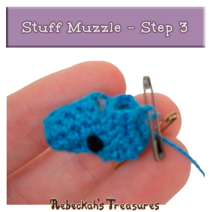 WIP Picture 23 | Stuff Pony Muzzle via @beckastreasures | FREE Pencil Topper / Finger Puppet Crochet Pattern!