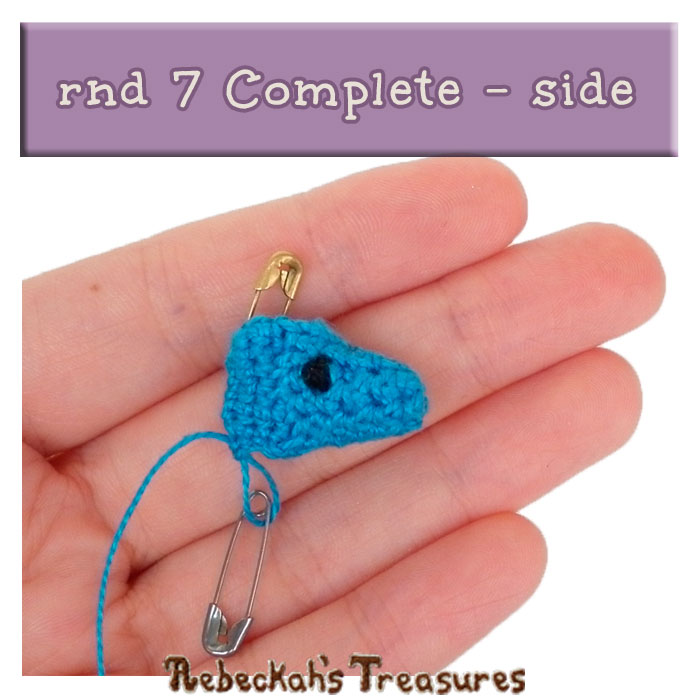 WIP Picture 28 | Pony Base rnd 7 Complete - Side View via @beckastreasures | FREE Pencil Topper / Finger Puppet Crochet Pattern!
