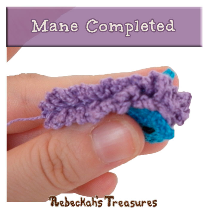 WIP Picture 38 | Pony Mane Complete via @beckastreasures | FREE Pencil Topper / Finger Puppet Crochet Pattern!