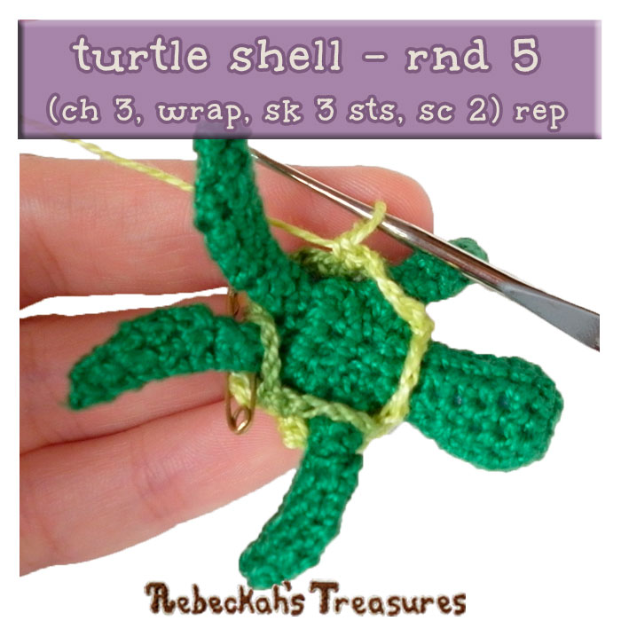 WIP Picture 14 | Crocheting the Turtle's Shell via @beckastreasures | FREE Finger Puppet Crochet Pattern!