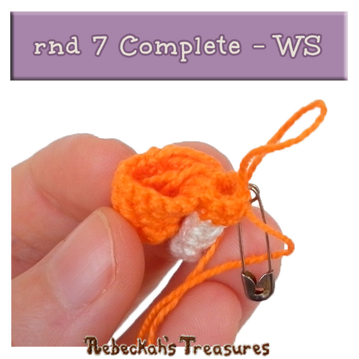 WIP Picture 6 | Pony Unicorn rnd 7 Complete - WS View via @beckastreasures | FREE Pencil Topper / Finger Puppet Crochet Pattern!
