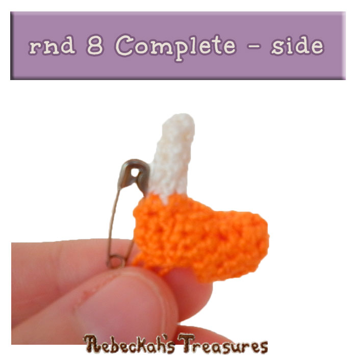 WIP Picture 10 | Pony Unicorn rnd 8 Complete - Side View via @beckastreasures | FREE Pencil Topper / Finger Puppet Crochet Pattern!