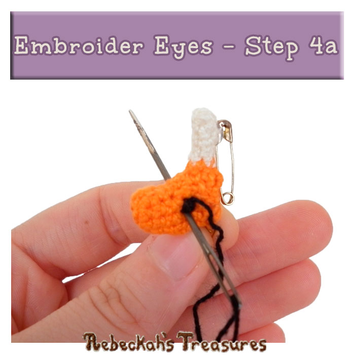 WIP Picture 15 | Embroider Unicorn Eyes via @beckastreasures | FREE Pencil Topper / Finger Puppet Crochet Pattern!