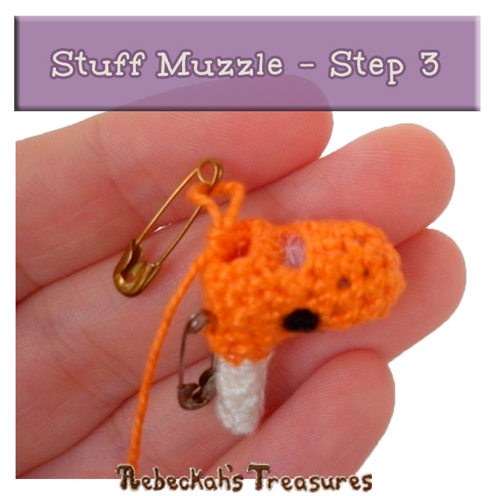 WIP Picture 23 | Stuff Unicorn Muzzle via @beckastreasures | FREE Pencil Topper / Finger Puppet Crochet Pattern!