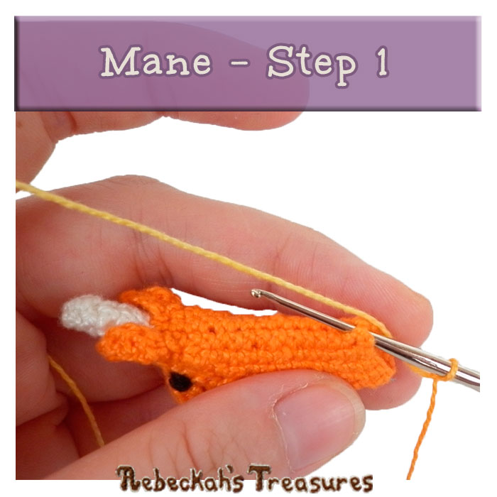 WIP Picture 29 | Crocheting the Unicorn's Mane via @beckastreasures | FREE Pencil Topper / Finger Puppet Crochet Pattern!