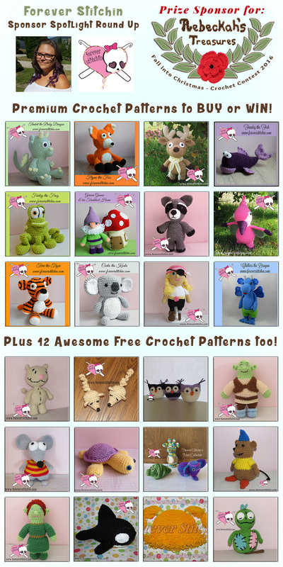 Forever Stitchin - Sponsor Spotlight Round Up via @beckastreasures | 12 Premium + 12 #FREE Crochet Patterns by @foreverstitchin | #fallintochristmas2016 #crochetcontest #spotlight #crochet #roundup
