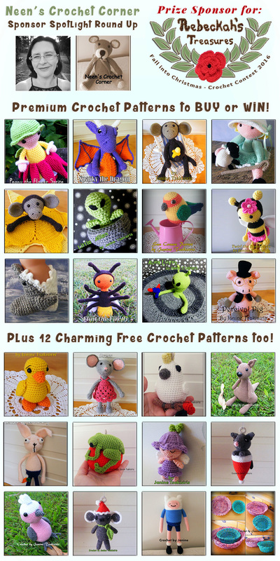 Neen's Crochet Corner - Sponsor Spotlight Round Up via @beckastreasures | 12 Premium + 12 #FREE Crochet Patterns by #NeensCrochetCorner | #fallintochristmas2016 #crochetcontest #spotlight #crochet #roundup