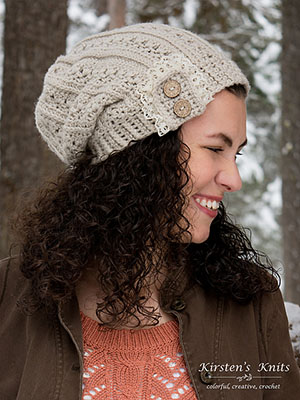 Primrose & Proper Slouch Hat | Friday Feature #19 via @beckastreasures with #KirstenHollowayDesigns #crochet | See the latest designer features here: https://goo.gl/UIvoYx OR SIGN UP to get featured at Rebeckah's Treasures here: https://goo.gl/xjDP52 #crochet