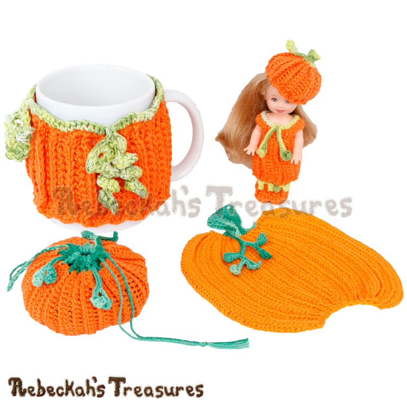 4 Fantabulous Pumpkin Designs by @beckastreasures | Free Crochet Patterns coming October 2016 via A Designer's Potpourri Year-Long CAL with @countrywillow12, @crochetmemories, @Sherrys2boyz & @ArtofaDG | Join today!