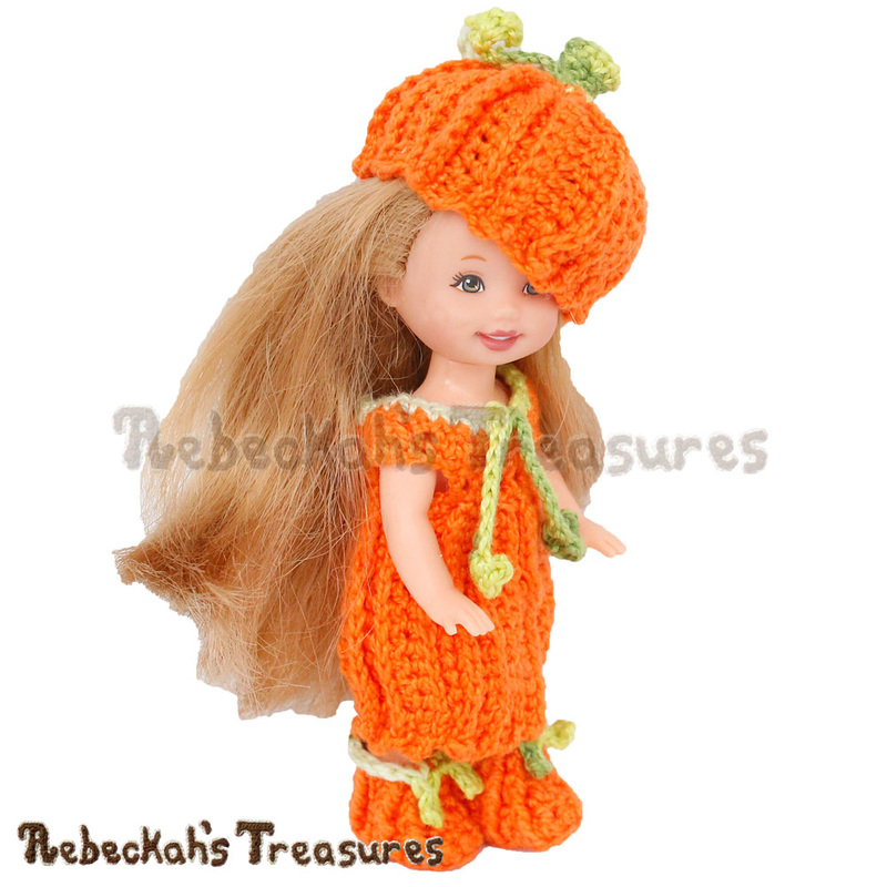 Pumpkin Cutie Child Doll Outfit by @beckastreasures | Free Crochet Pattern coming October 2016 via A Designer's Potpourri Year-Long CAL with @countrywillow12, @crochetmemories, @Sherrys2boyz & @ArtofaDG | Join today!