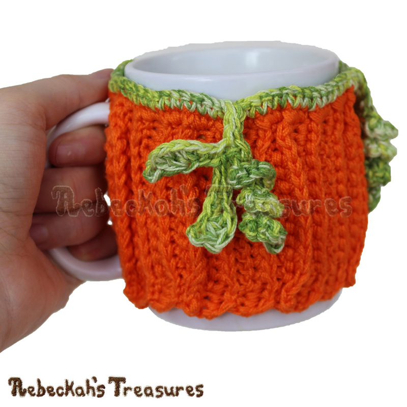 Thick Harvest Pumpkin Mug Cozy by @beckastreasures | Free Crochet Pattern coming October 2016 via A Designer's Potpourri Year-Long CAL with @countrywillow12, @crochetmemories, @Sherrys2boyz & @ArtofaDG | Join today!