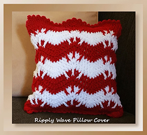 Ripply Wave Pillow Cover - Free Crochet Pattern by @crochetmemories Featured at Crochet Memories - Sponsor Spotlight Round Up via @beckastreasures | #fallintochristmas2016 #crochetcontest #spotlight #crochet #roundup