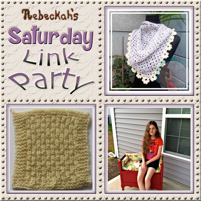 Increase your reach, make new friends and have some fun with Rebeckah's 52st Saturday Link Party via @beckastreasures | Featuring @CCWJoanita @UCrafter & @2CrochetHooks | Join the party any day from Saturday to Friday!