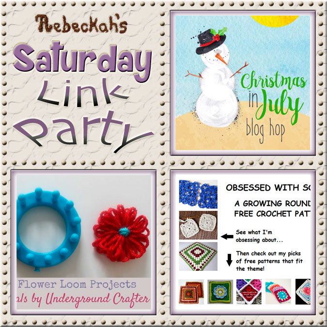 Increase your reach, make new friends and have some fun with Rebeckah's 53rd Saturday Link Party via @beckastreasures | Featuring @2CrochetHooks & @UCrafter | Join the party any day from Saturday to Friday!
