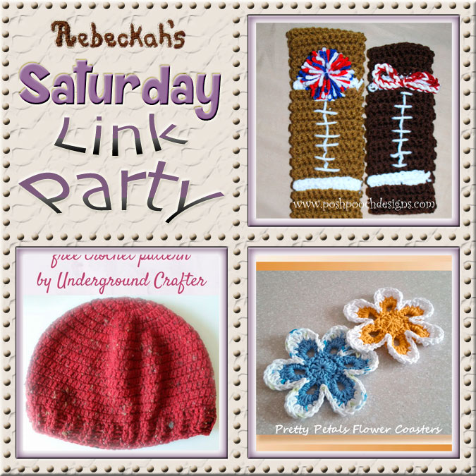 Increase your reach, make new friends and have some fun with Rebeckah's 59th Saturday Link Party via @beckastreasures | Featuring @PoshPoochDesign @UCrafter & @crochetmemories | Join the party any day from Saturday to Friday! Ends September 2nd, 2016.