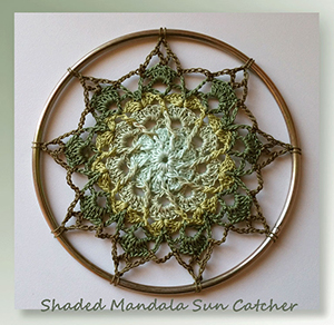 Shaded Mandala Sun Catcher - Free Crochet Pattern by @crochetmemories Featured at Crochet Memories - Sponsor Spotlight Round Up via @beckastreasures | #fallintochristmas2016 #crochetcontest #spotlight #crochet #roundup