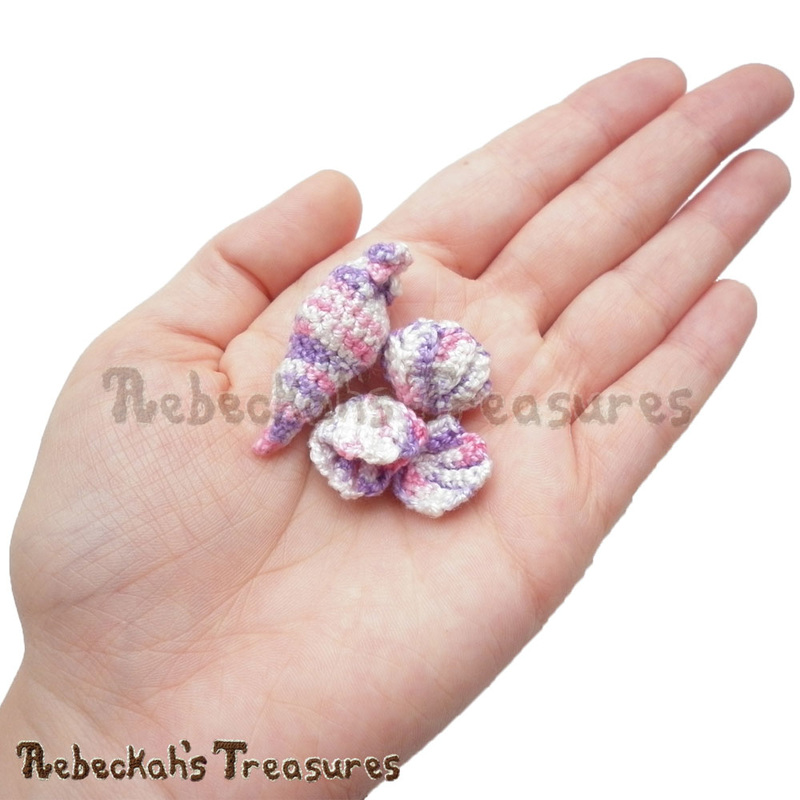 Purple Variegate Thread Shells | Preview of Mini Sea Shells via @beckastreasures! | Crochet patterns scheduled for August 2016 release. Stay tuned!