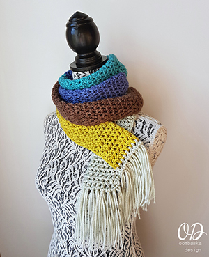 Sinfully Simple Unisex Winter Scarf | Featured at Tuesday Treasures #24 via @beckastreasures with @OombawkaDesign | #crochet