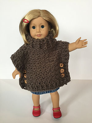 Sophia Doll Poncho | Friday Feature #12 via @beckastreasures with @LtMonkeyShop | See the latest designer features here: https://goo.gl/UIvoYx OR SIGN UP to get featured at Rebeckah's Treasures here: https://goo.gl/xjDP52 #crochet