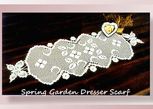 Spring Garden Dresser Scarf - Crochet Pattern by @crochetmemories Featured at Crochet Memories - Sponsor Spotlight Round Up via @beckastreasures | #fallintochristmas2016 #crochetcontest #spotlight #crochet #roundup
