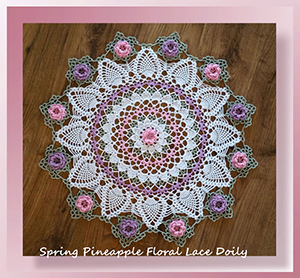 Spring Pineapple Floral Lace Doily - Free Crochet Pattern by @crochetmemories Featured at Crochet Memories - Sponsor Spotlight Round Up via @beckastreasures | #fallintochristmas2016 #crochetcontest #spotlight #crochet #roundup