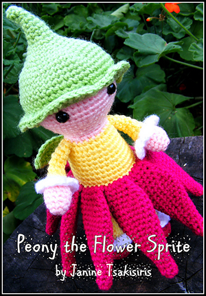 Peony the Flower Sprite - Crochet Pattern by #NeensCrochetCorner | Featured at Neen's Crochet Corner - Sponsor Spotlight Round Up via @beckastreasures | #fallintochristmas2016 #crochetcontest #spotlight #crochet #roundup