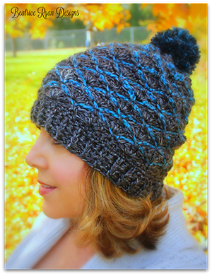 Steel Ridge Beanie | Featured at Tuesday Treasures #18 via @beckastreasures with @BeaRyanDesigns | #crochet