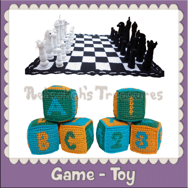 Game - Toy Crochet Patterns by @beckastreasures