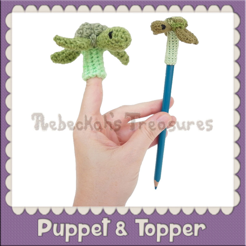 Finger Puppet - Pencil Topper Crochet Patterns by @beckastreasures
