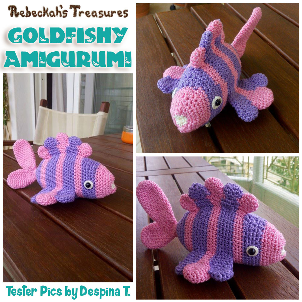 Goldfishy Amigurumi | Crochet Pattern by @beckastreasures | Tester Pictures by Despina T.