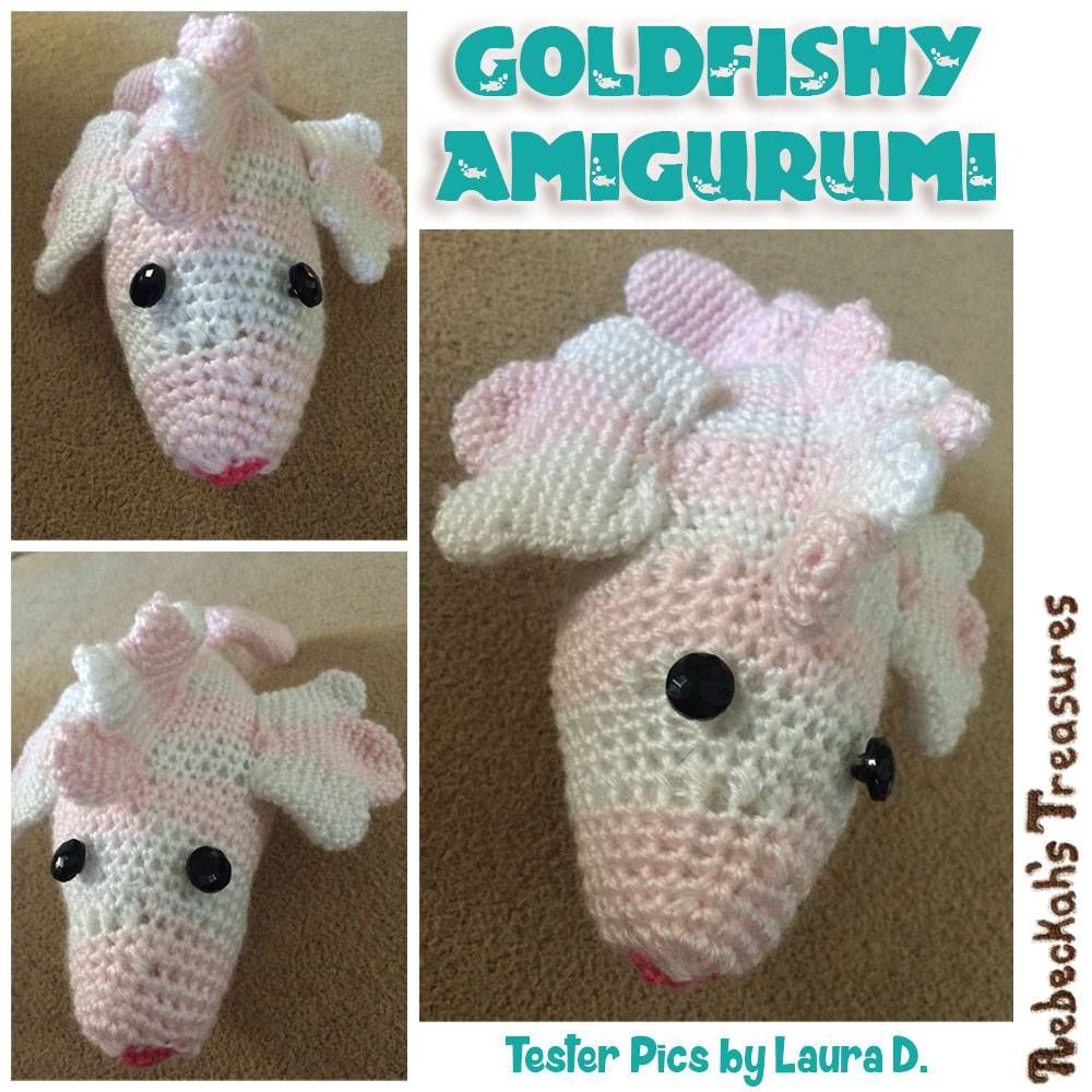 Goldfishy Amigurumi | Crochet Pattern by @beckastreasures | Tester Pictures by Laura D.