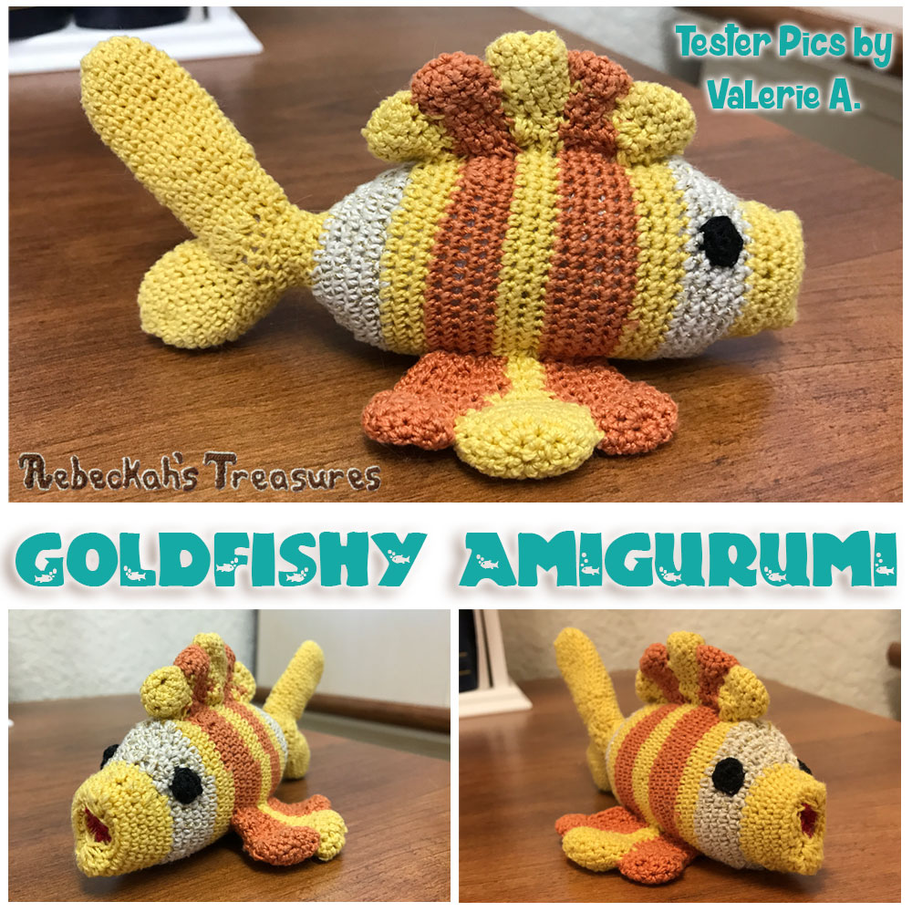 Goldfishy Amigurumi | Crochet Pattern by @beckastreasures | Tester Pictures by Valerie A.