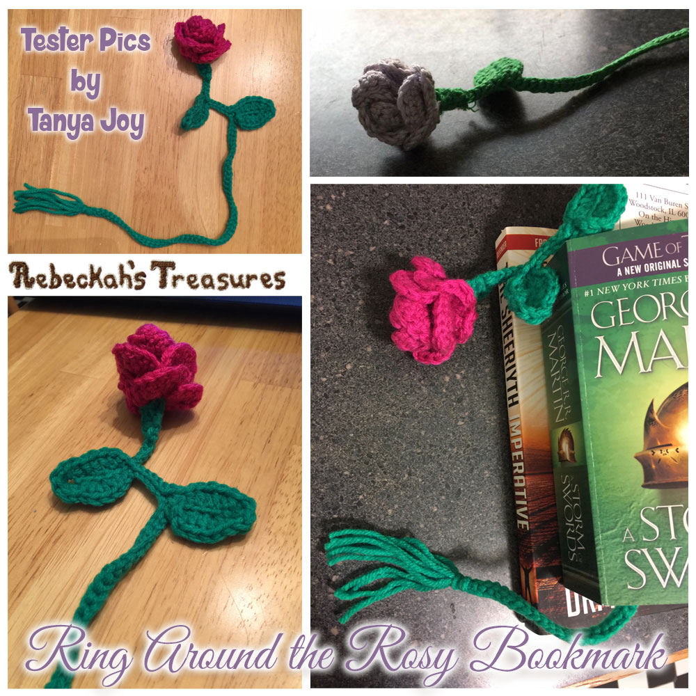 Ring Around the Rosy Bookmark | Crochet Pattern by @beckastreasures | Tester Pictures by Tanya