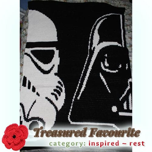 Darth Vader / Storm Trooper | Treasured REST Favourite (less than 100 votes) at @beckastreasures | Fall into Christmas Crochet Contest 2016 (October 30th - December 21st)