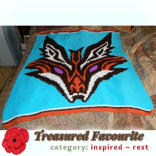 Foxy Blanket | Treasured REST Favourite (less than 100 votes) at @beckastreasures | Fall into Christmas Crochet Contest 2016 (October 30th - December 21st)